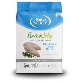 NutriSource Pure Vita Cat Dry LID Chicken & Peas GF