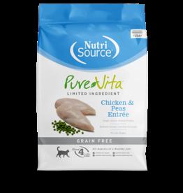 NutriSource Pure Vita Cat Dry LID Chicken & Peas GF