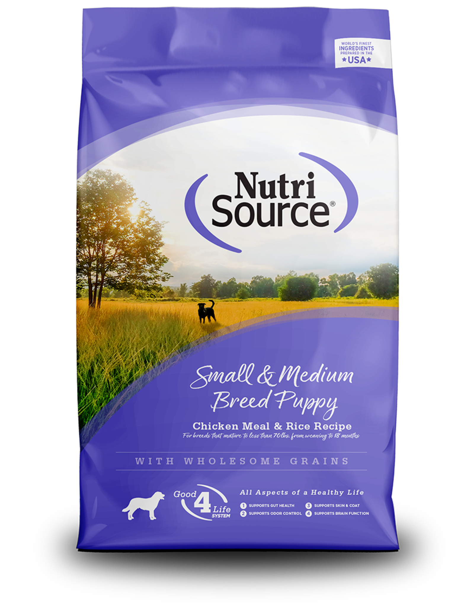 NutriSource NutriSource Dry Dog Food Small & Medium Breed Puppy Chicken Meal & Rice Recipe Grain Inclusive