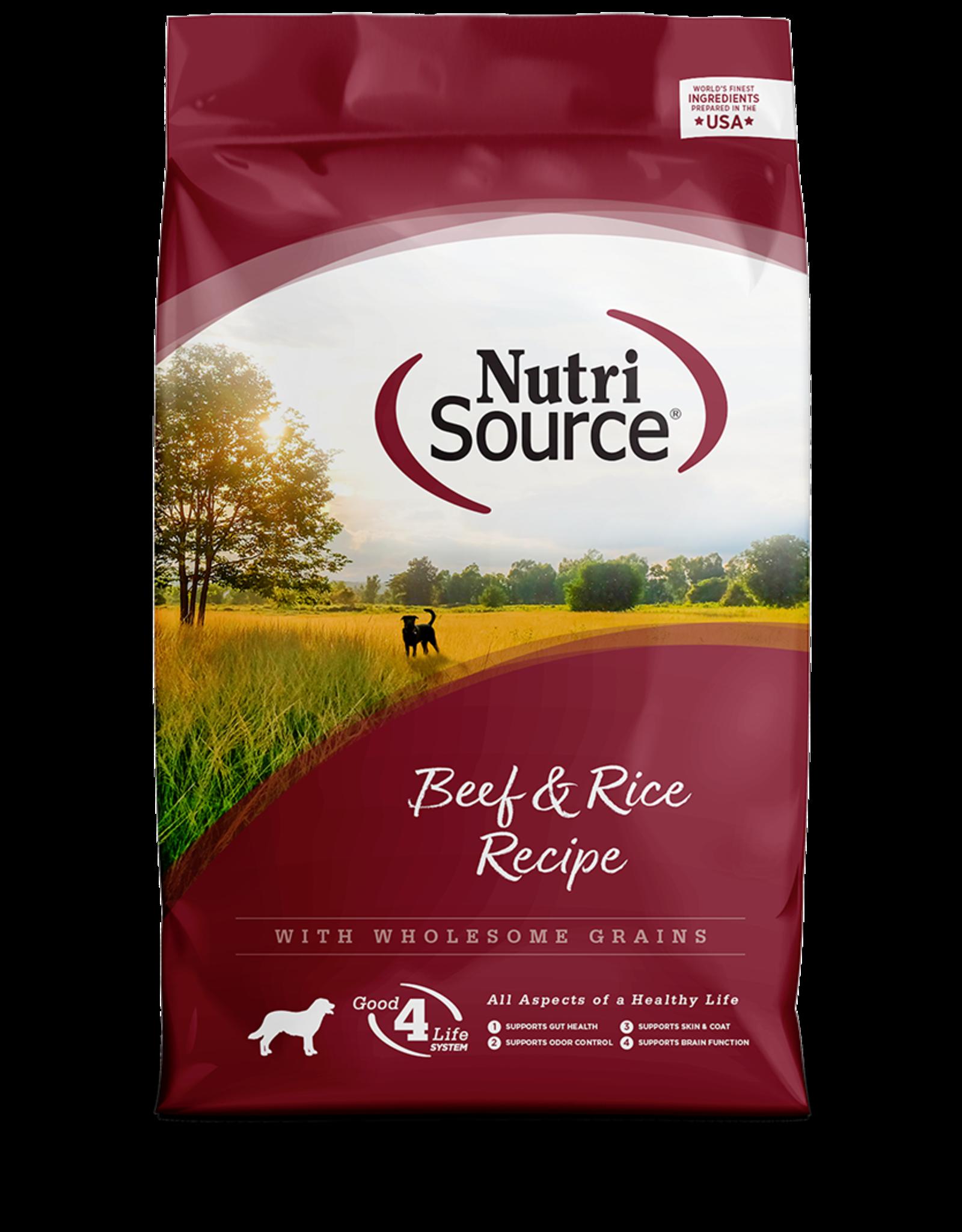 NutriSource NutriSource Dry Dog Food Beef & Rice Recipe Grain Inclusive