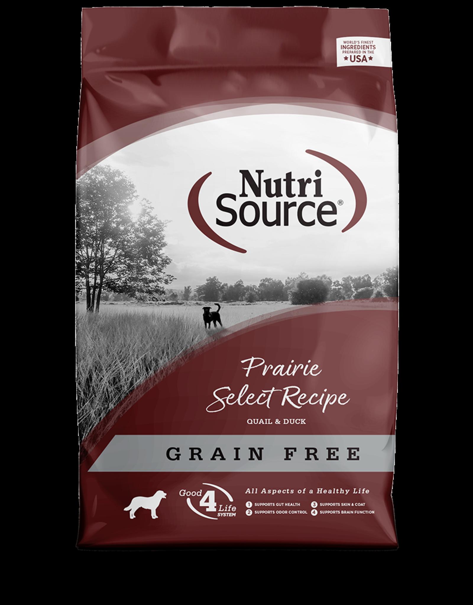 NutriSource NutriSource Dry Dog Food Prairie Select Recipe Quail & Duck Grain Free