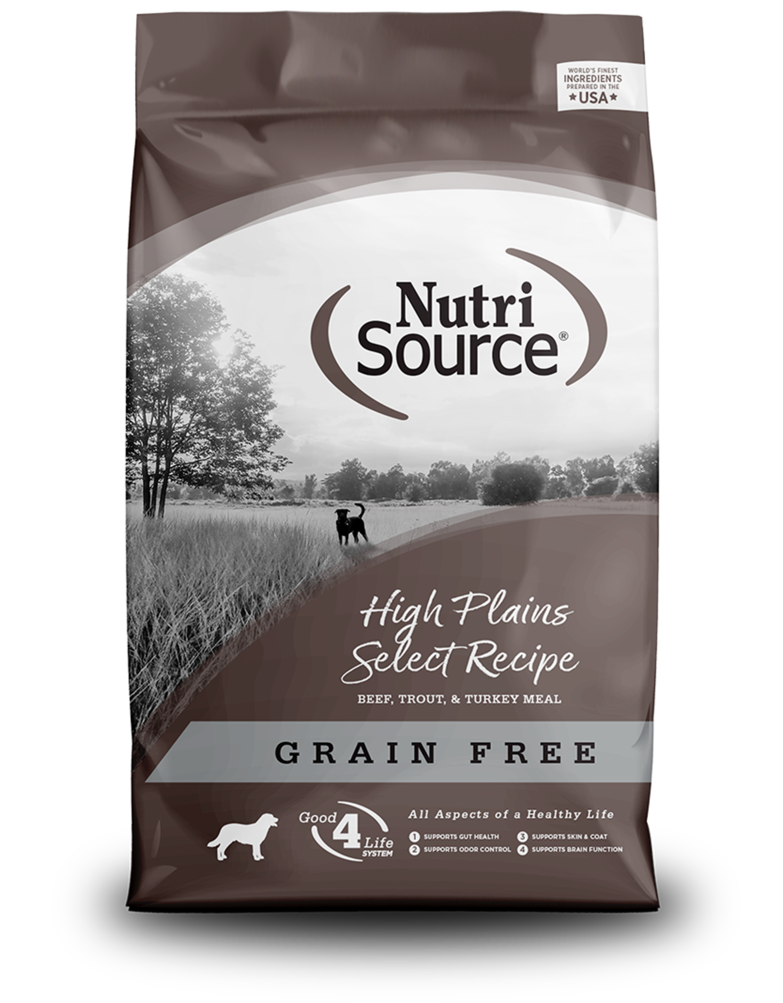 NutriSource NutriSource Dry Dog Food High Plains Select Recipe Beef, Trout, & Turkey Meal Grain Free