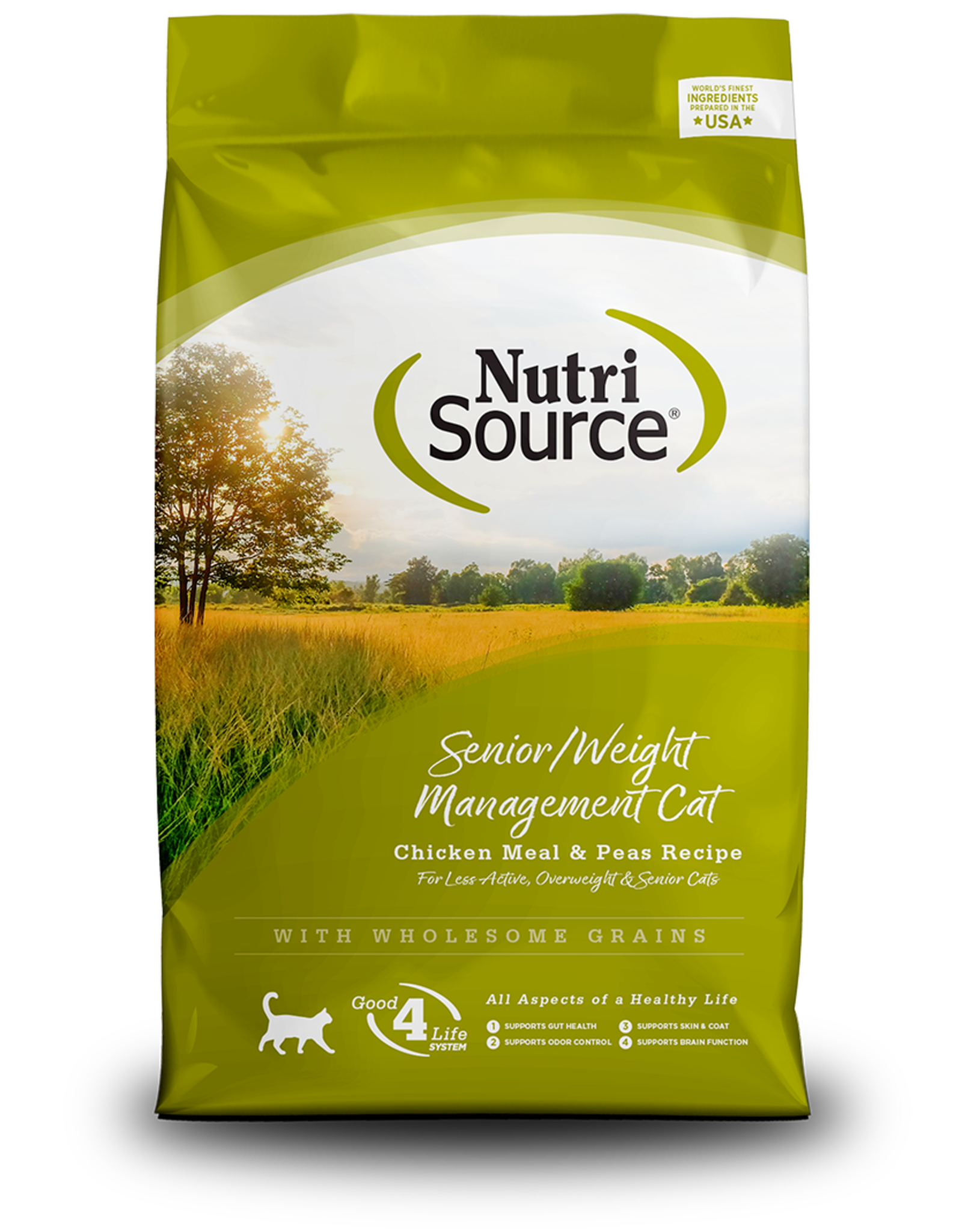 NutriSource NutriSource Dry Cat Food Senior & Weight Management Recipe Chicken Meal & Peas