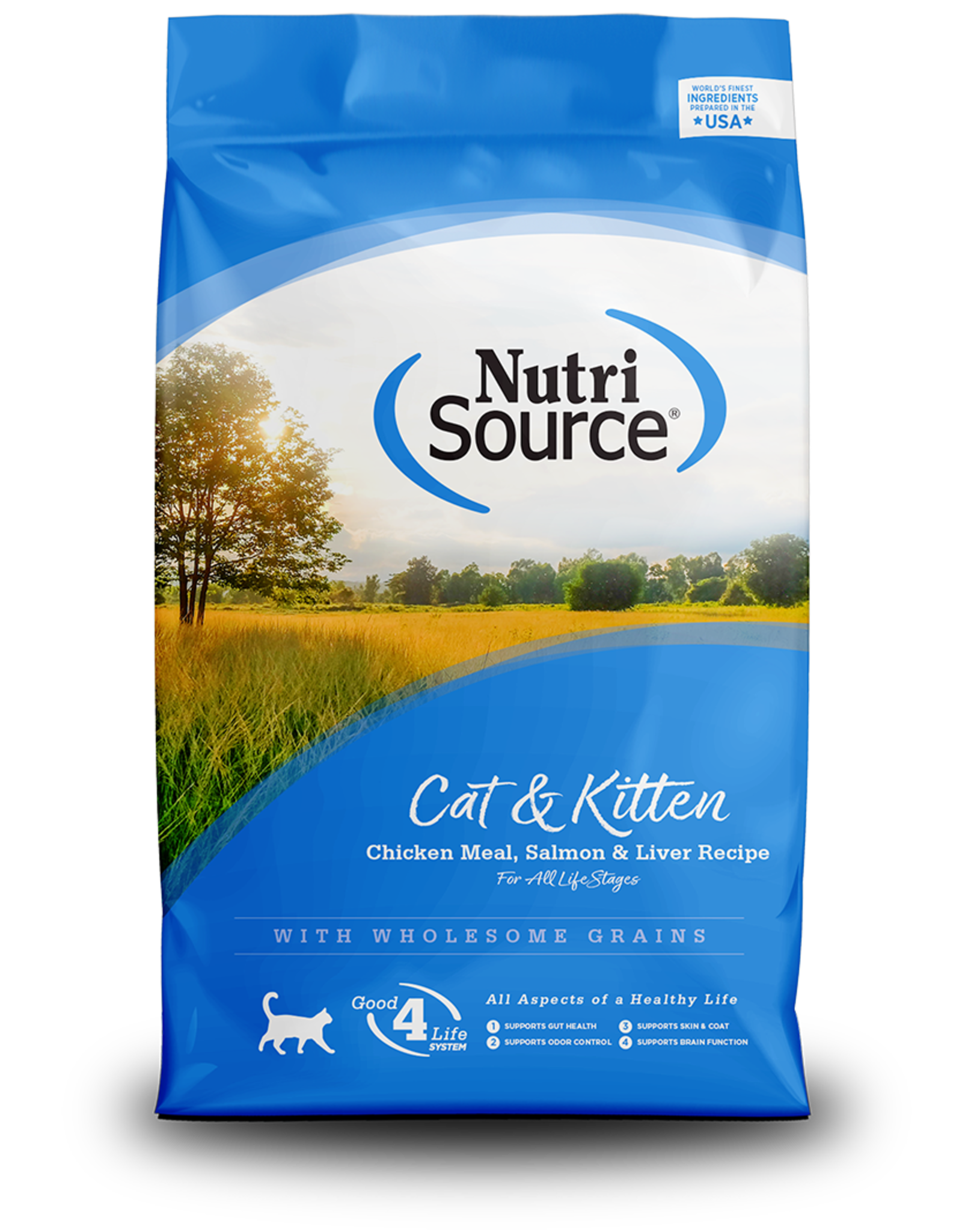 NutriSource NutriSource Dry Cat Food Cat & Kitten Chicken Meal, Salmon, & Liver Recipe
