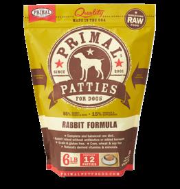 Primal Primal Dog Frozen Raw Rabbit Patties 6lb