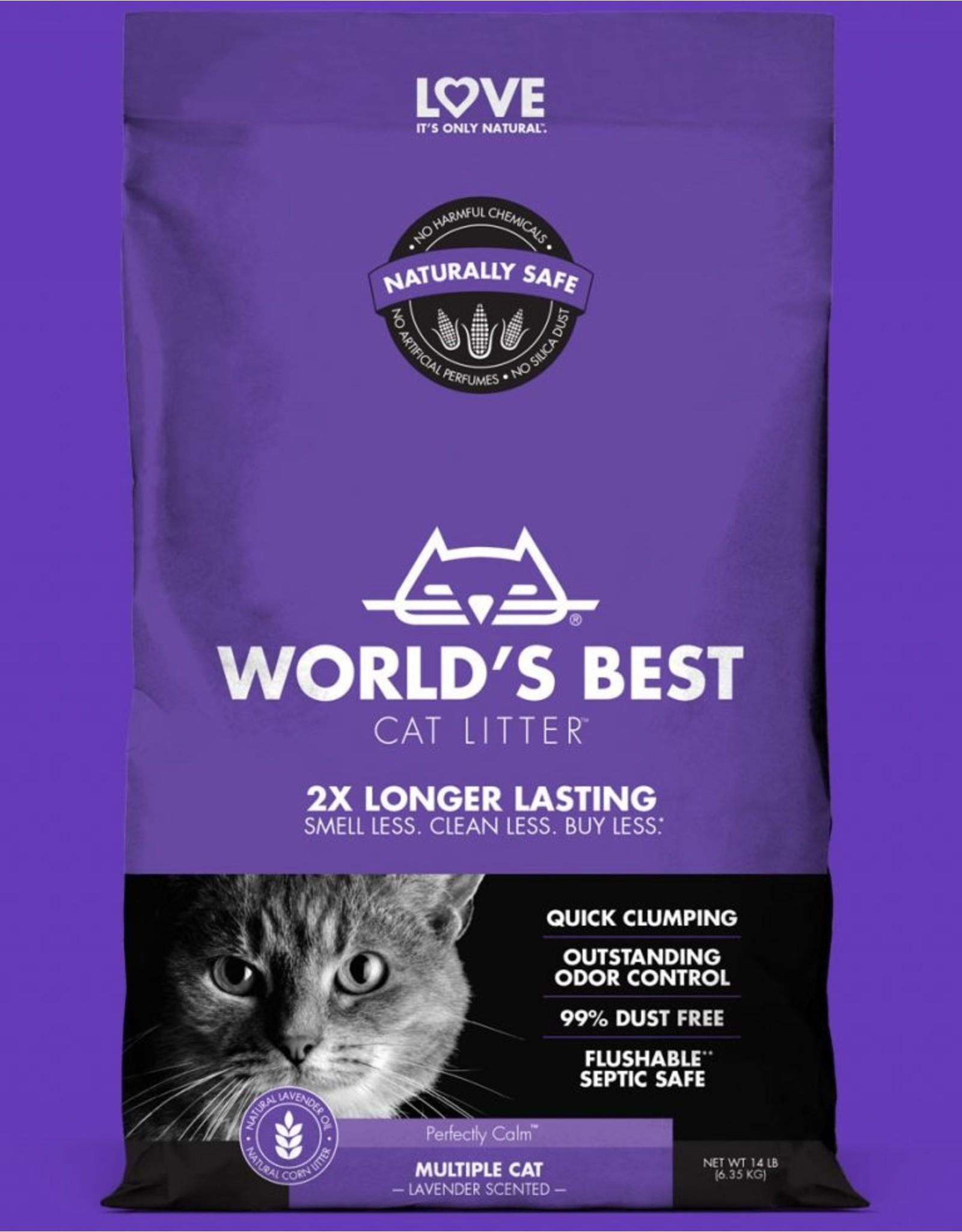 World's Best World's Best Cat Litter Multiple Cat Lavender Scented Clumping Litter