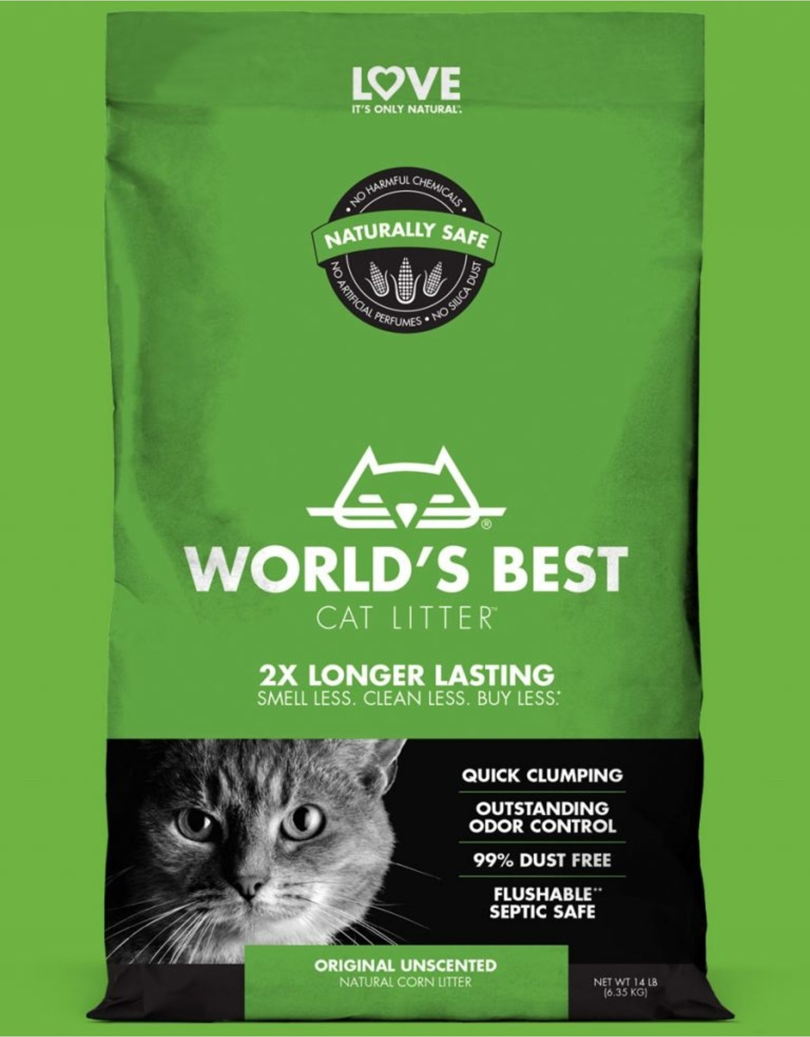 World's Best World's Best Cat Litter Original Clumping Unscented