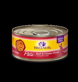 Wellness Wellness Cat Can Beef & Chicken Pate 5.5oz
