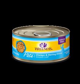 Wellness Wellness Cat Can Chicken & Herring Pate 5.5oz