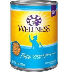 Wellness Wellness Cat Can Chicken & Herring Pate 12oz