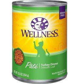 Wellness Wellness Cat Can Turkey Pate 12oz