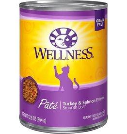 Wellness Wellness Cat Can Turkey & Salmon Pate 12oz