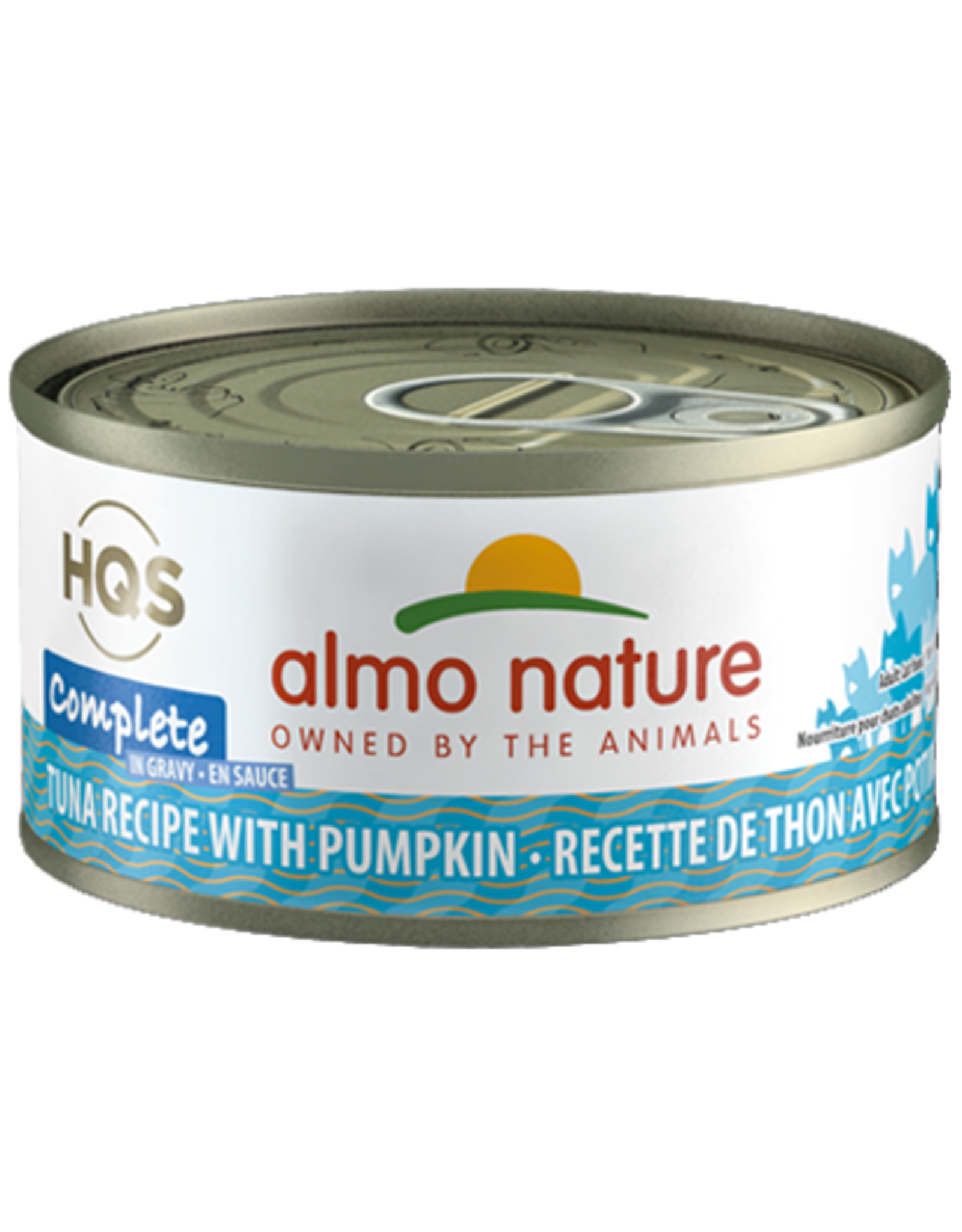 Almo Nature Almo Nature HQS Complete Wet Cat Food Tuna Recipe with Pumpkin in Gravy 2.47oz Can Grain Free