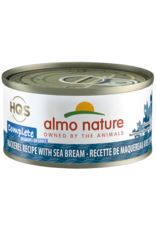 Almo Nature Almo Nature HQS Complete Wet Cat Food Mackerel Recipe with Sea Bream in Gravy 2.47oz Can Grain Free