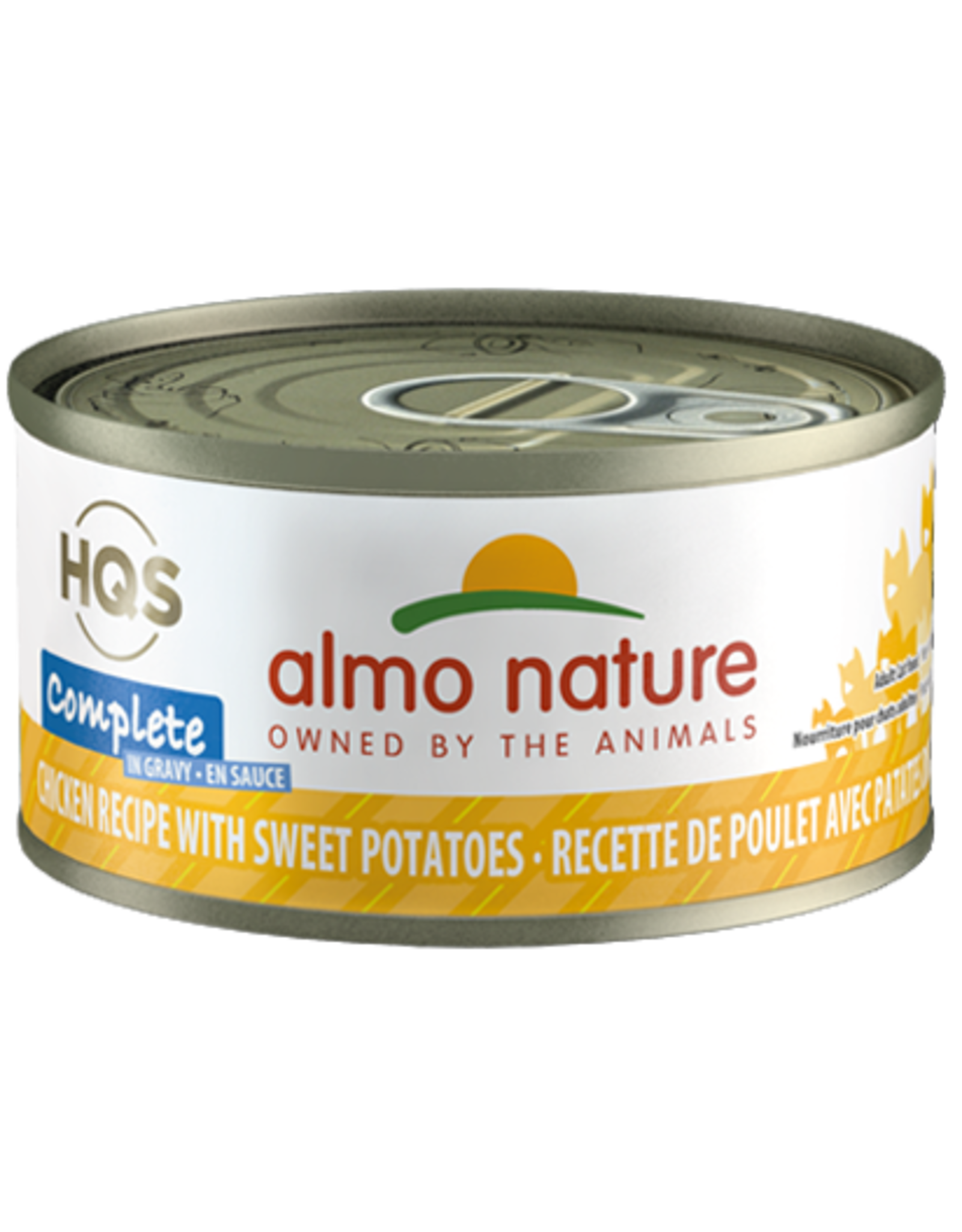 Almo Nature Almo Nature HQS Complete Wet Cat Food Chicken Recipe with Sweet Potatoes in Gravy 2.47oz Can Grain Free