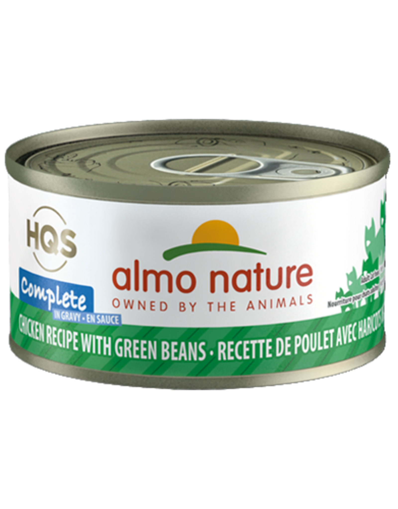 Almo Nature Almo Nature HQS Complete Wet Cat Food Chicken Recipe with Green Beans in Gravy 2.47oz Can Grain Free