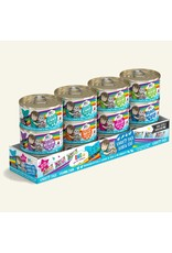 Weruva BFF Weruva BFF OMG Best Feline Friend Oh My Gravy Wet Cat Food Rainbow Road Variety 12 Pack 3oz Can - Chicken & Pumpkin Love Munchkin, Chicken & Salmon Crazy 4 U, Chicken & Turkey QT Patootie, Chicken & Lamb Selfie Cam, Duck & Tuna Lots-O-Luck,  Beef & Salmon