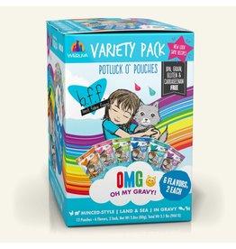 Weruva BFF BFF OMG Cat Potluck O Pouches Variety 12 Pack 2.8oz