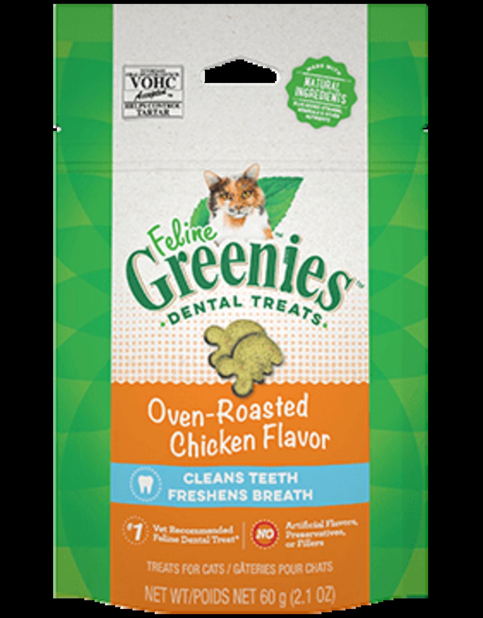 Greenies Feline Greenies Cat Dental Treats Oven-Roasted Chicken Flavor