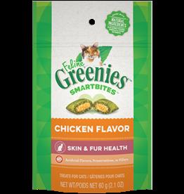 Greenies Greenies Cat Treats Skin & Fur Chicken  2.1oz