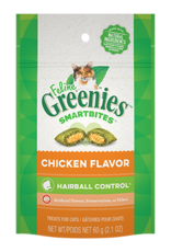 Greenies Feline Greenies Smartbites Cat Treats Hairball Control Chicken Flavor 2.1oz