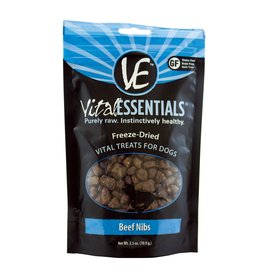 Vital Essentials VE FD Dog Treats Beef Nibs 2.5oz