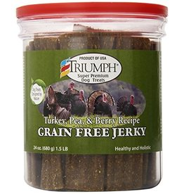 Triumph Triumph Dog Jerky Turkey Pea Berry GF