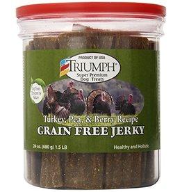 Triumph Triumph Dog Jerky Turkey Pea Berry GF