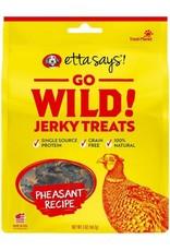 Treat Planet Etta Says Go Wild Jerky Pheasant Recipe Dog Treats 5oz