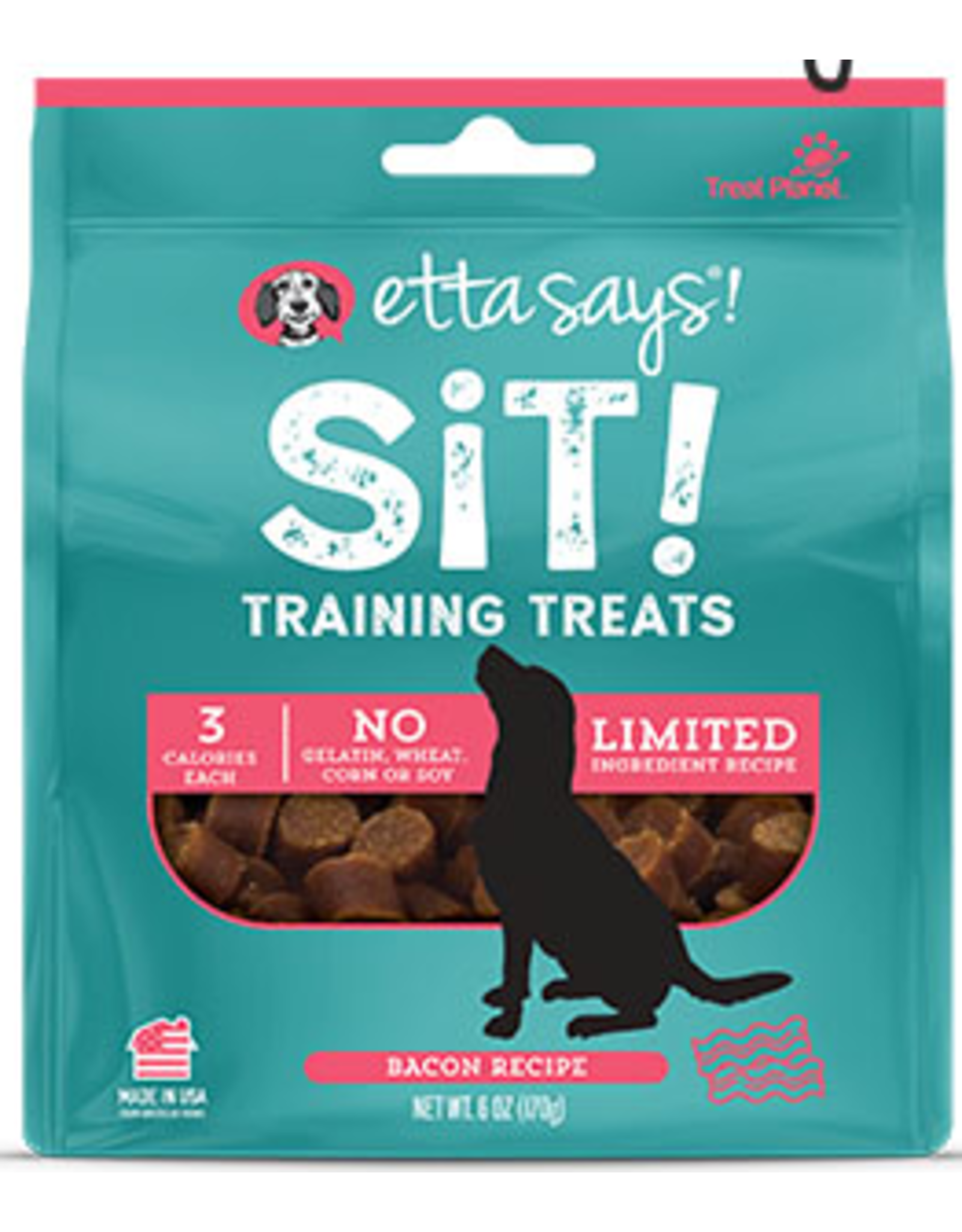 Treat Planet Etta Says Sit Dog Training Treats Bacon Recipe 6oz