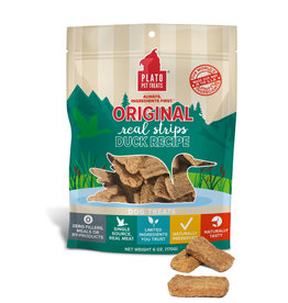 Plato Plato Dog Treats Duck Strips 18oz