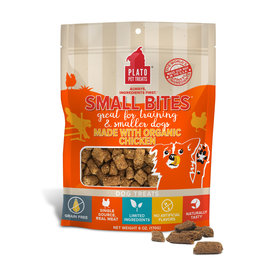 Plato Plato Dog Treats Small Bites Chicken 6oz