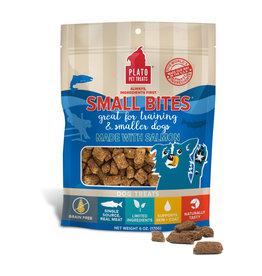 Plato Plato Dog Treats Small Bites Salmon 6oz