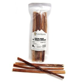 "Natural Dog Natural Dog Odor Free Bully Sticks 12""  8oz bag"