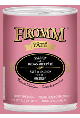 Fromm Fromm Wet Dog Food Salmon & Brown Rice Pate 12.2oz Can Grain Inclusive