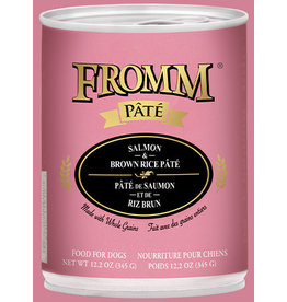 Fromm Fromm Dog Can Salmon Brown Rice Pate 12.2oz