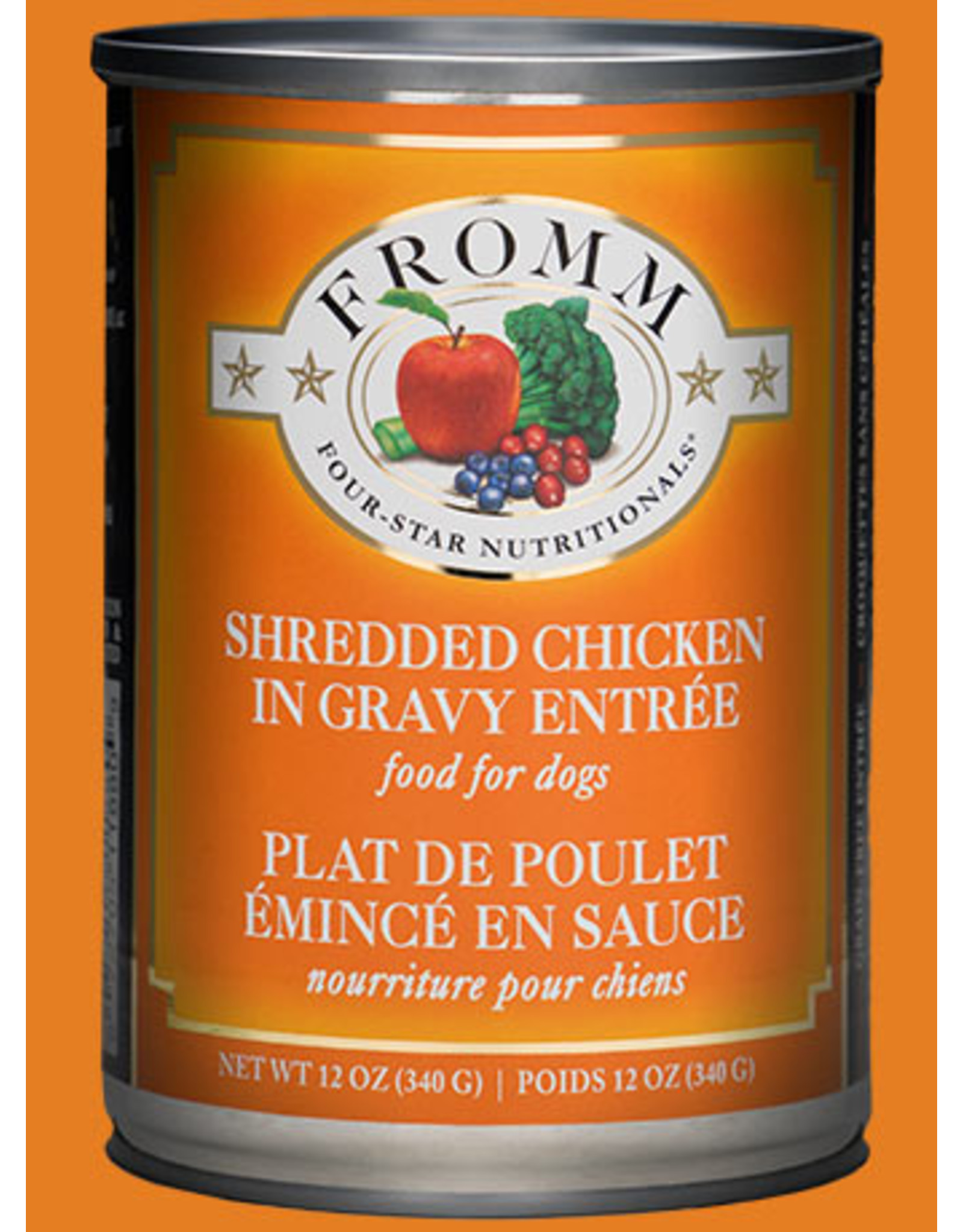 Fromm Fromm Wet Dog Food Shredded Chicken in Gravy Entree 12oz Can Grain Free