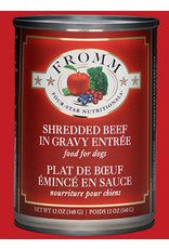 Fromm Fromm Wet Dog Food Shredded Beef in Gravy Entree 12oz Can Grain Free