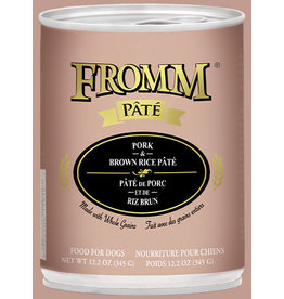 Fromm Fromm Dog Can Pork Brown Rice Pate 12.2oz