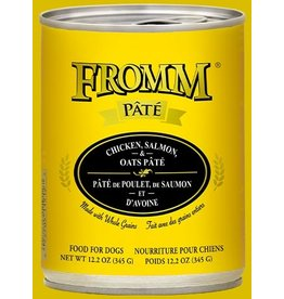 Fromm Fromm Dog Can Chicken Salmon Oats Pate 12.2oz