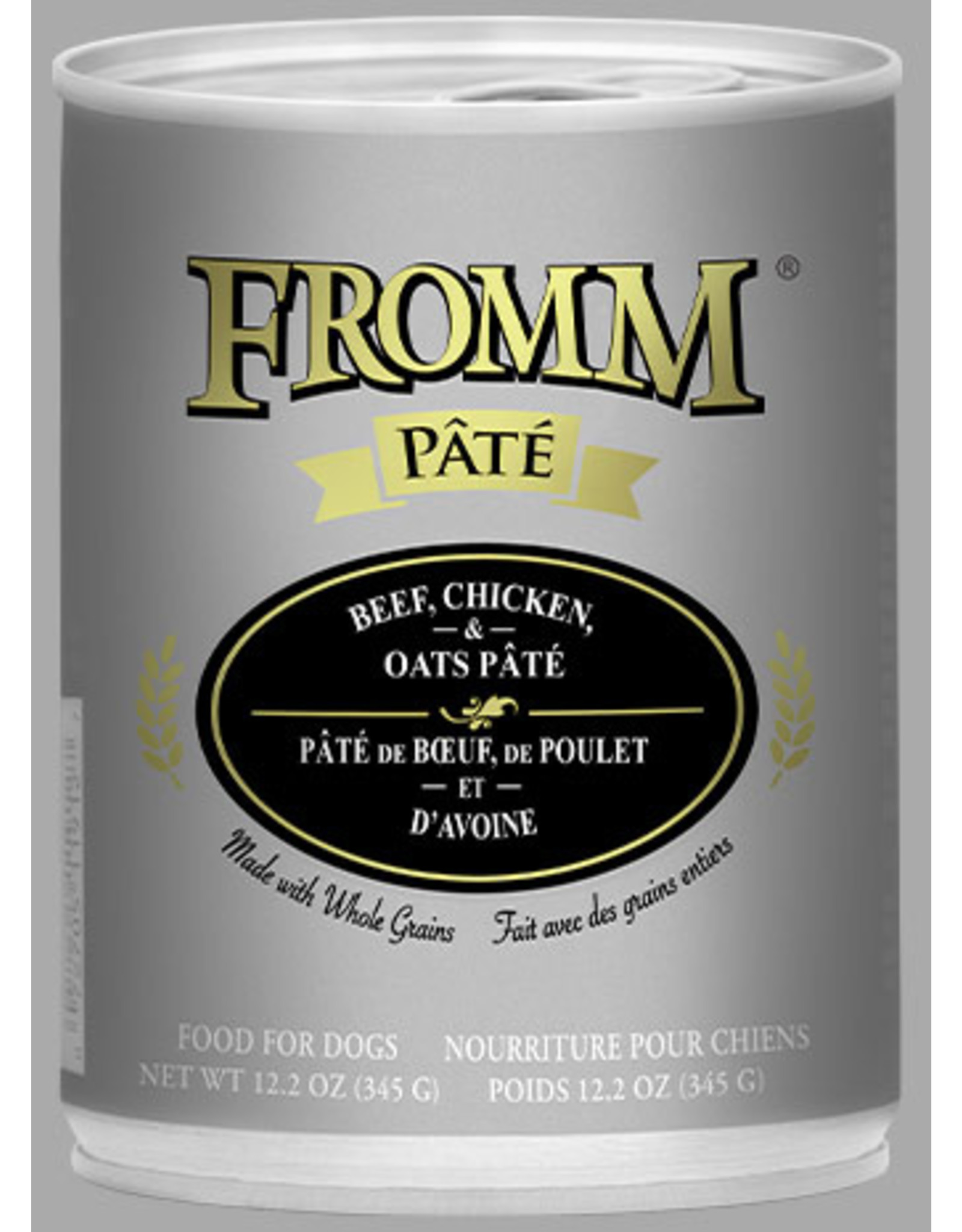 Fromm Fromm Wet Dog Food Beef, Chicken, & Oats Pate 12.2oz Can Grain Inclusive