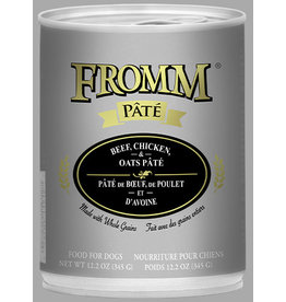 Fromm Fromm Dog Can Beef Chicken Oats Pate 12.2oz