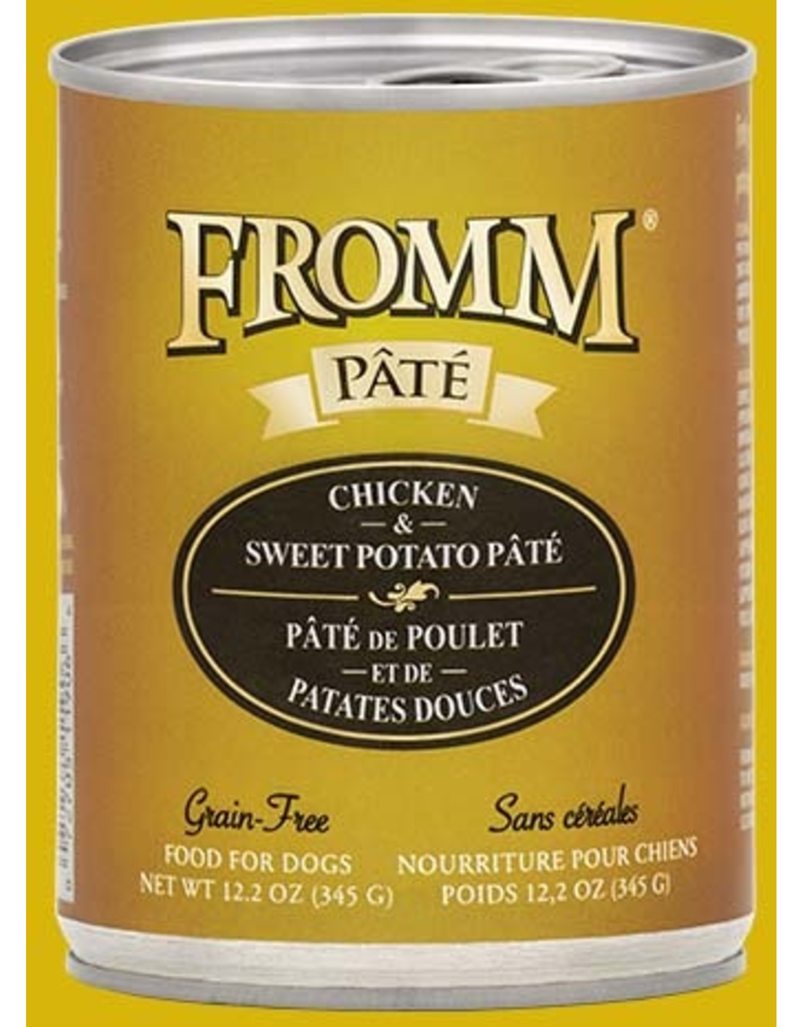 Fromm Fromm Wet Dog Food Chicken & Sweet Potato Pate 12.2oz Can Grain Free