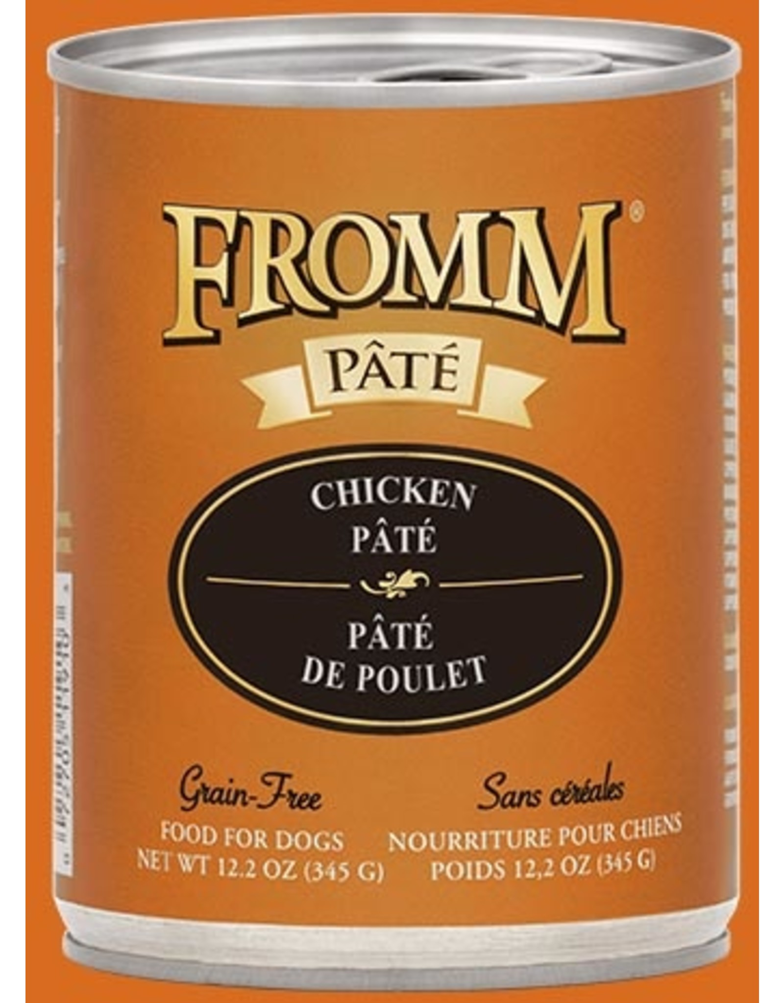 Fromm Fromm Wet Dog Food Chicken Pate 12.2oz Can Grain Free