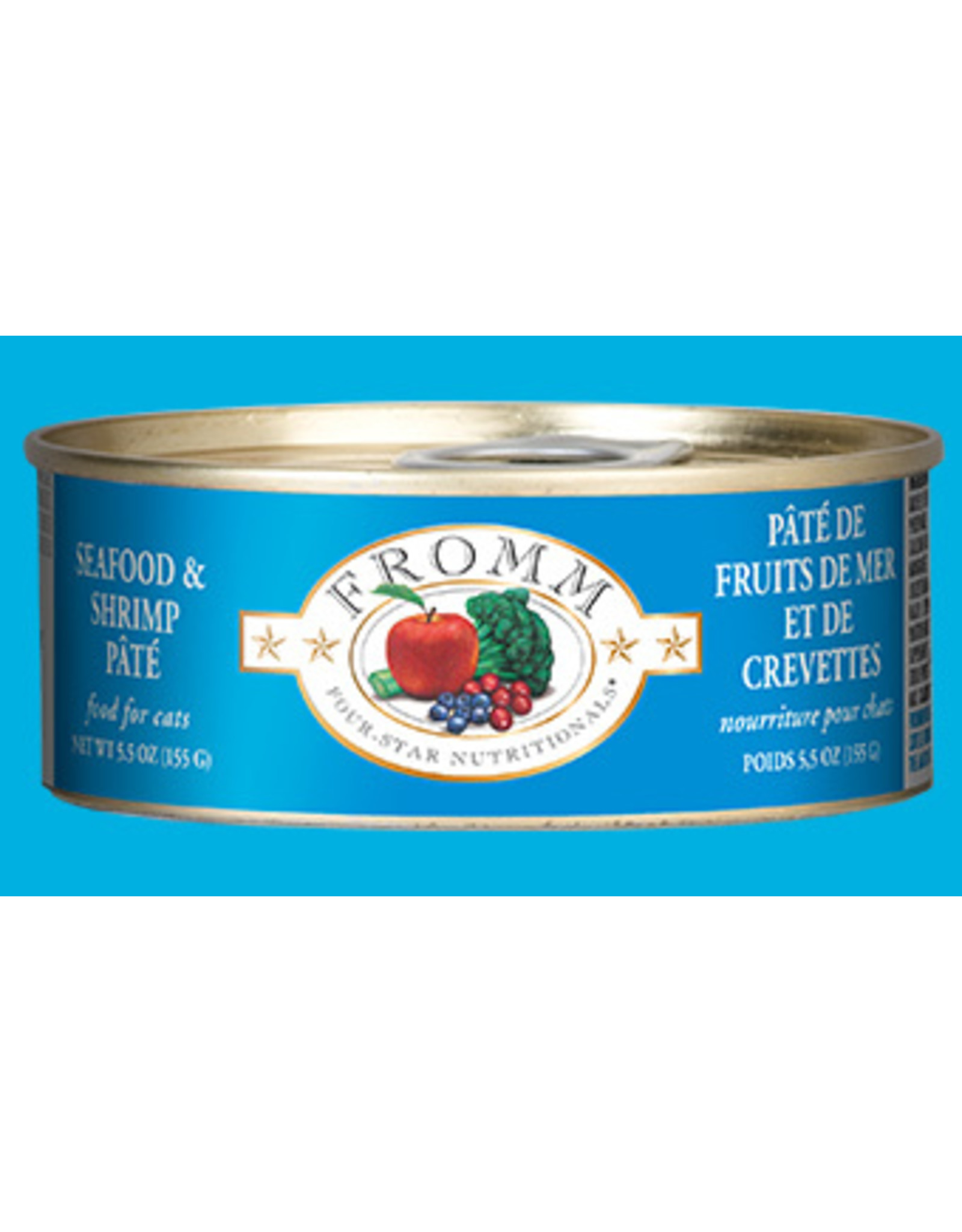 Fromm Fromm Wet Cat Food Four Star Nutritionals Seafood & Shrimp Pate 5.5oz Can