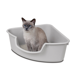 Pioneer Pet Products / Smart Cat SmartCat Corner Litter Pan Gray