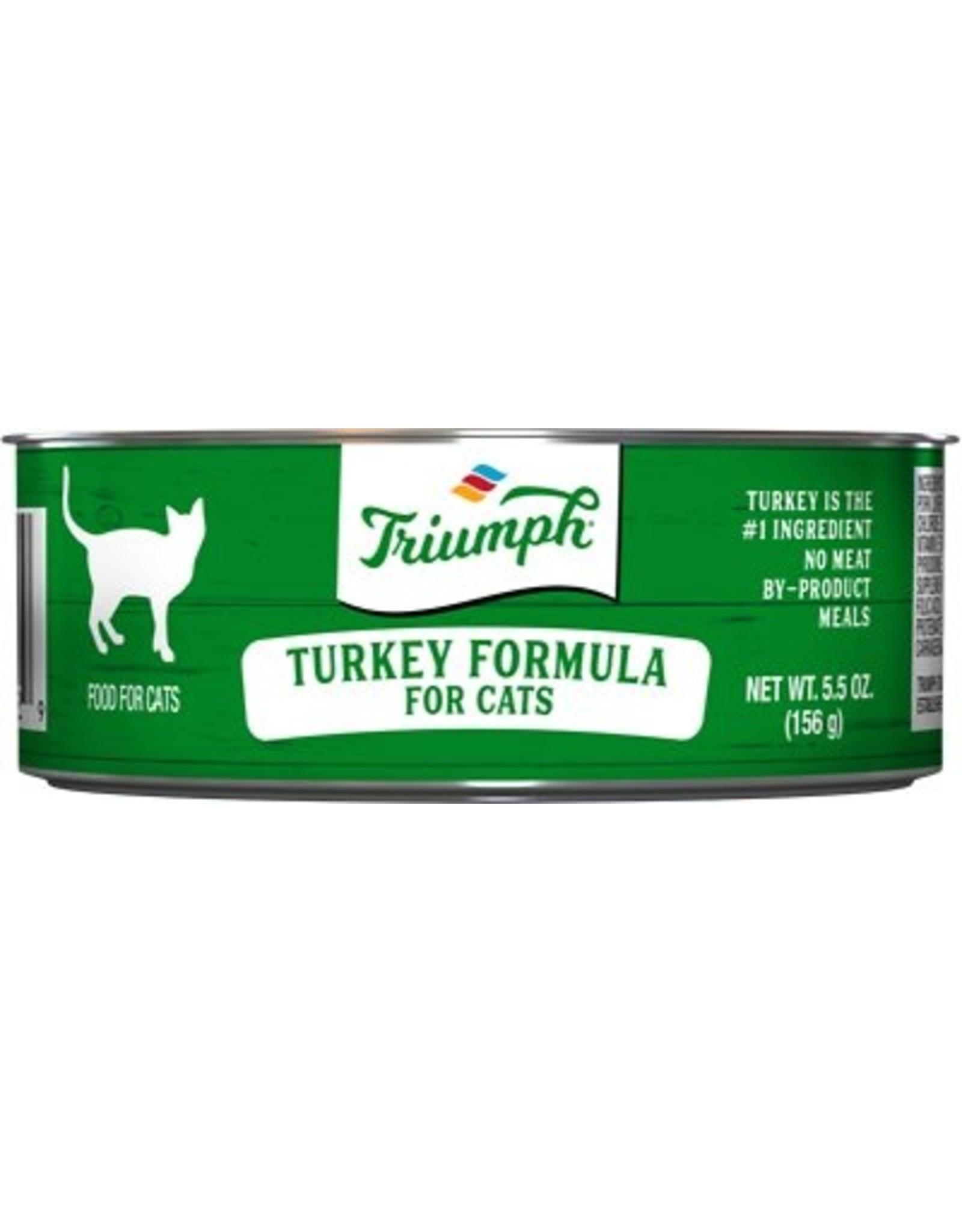 Triumph Triumph Wet Cat Food Turkey Formula 5.5oz Can