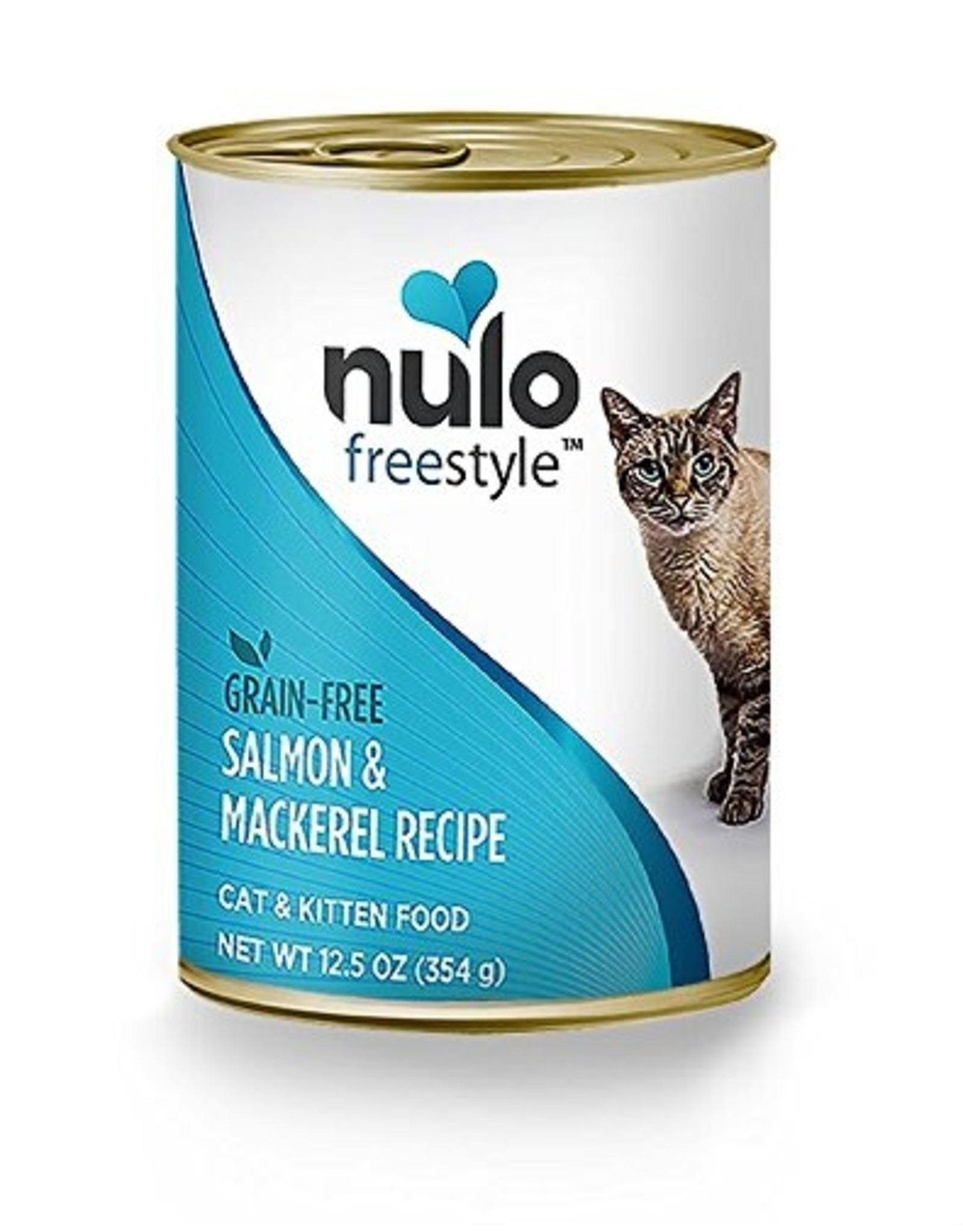 Nulo Nulo Freestyle Wet Cat Food Salmon & Mackerel Recipe Pate 12.5oz Can Grain Free