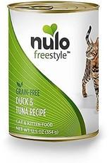Nulo Nulo Freestyle Wet Cat Food Duck & Tuna Recipe Pate 12.5oz Can Grain Free