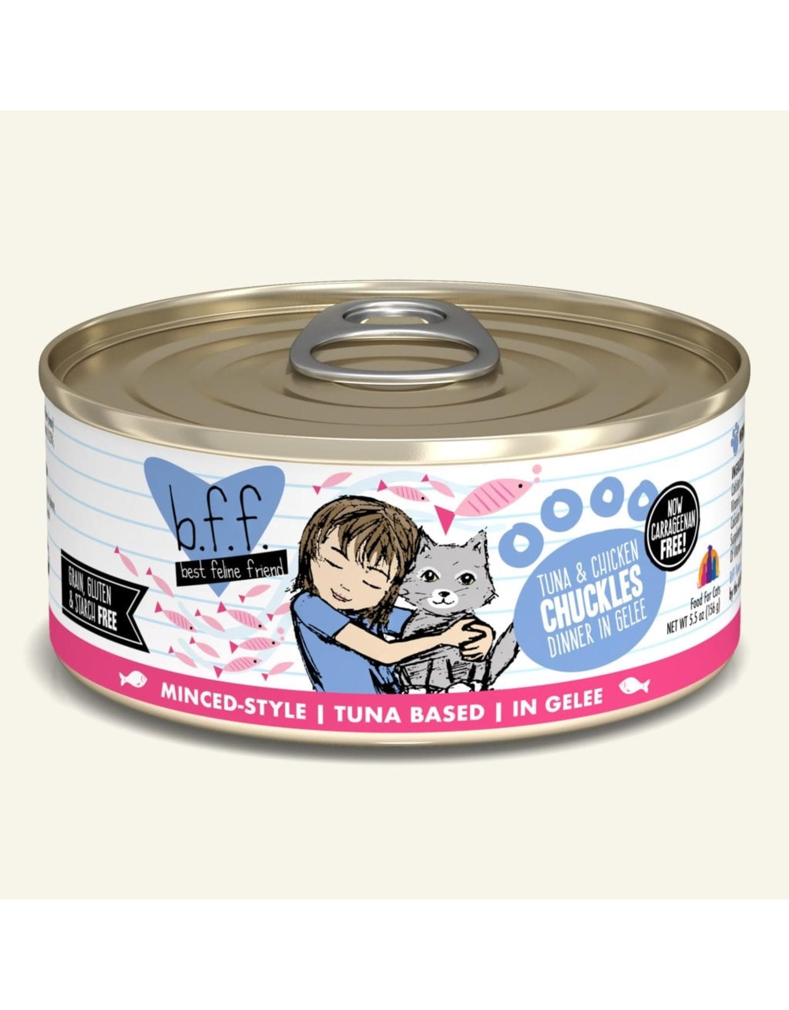 Weruva BFF Weruva B.F.F. Best Feline Friend Originals Wet Cat Food Chuckles Tuna & Chicken Dinner in Gelée 5.5oz Can